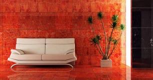 wnętrze czerwone kanapy Zdjęcie Royalty Free