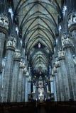 Wnętrze Duomo, Mediolan, Zdjęcia Royalty Free