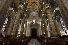 Wnętrze Duomo, Mediolan Fotografia Royalty Free