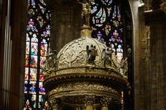 Wnętrze Duomo, Mediolan Obrazy Royalty Free