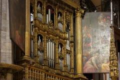 Wnętrze Duomo, Mediolan Zdjęcie Stock