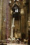 Wnętrze Duomo, Mediolan Zdjęcie Royalty Free