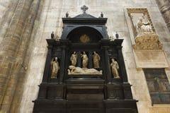 Wnętrze Duomo, Mediolan Obrazy Stock