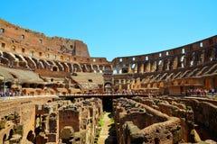 Wnętrze Flavian Colosseum lub Amphitheatre Zdjęcia Stock