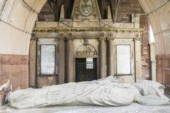 Wnętrze Fortrose Katedralna ruina na Czarnej wyspie w Szkocja Obraz Stock