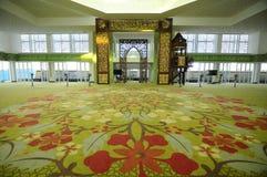 Wnętrze GBI zieleni platyny Cyberjaya meczet w Cyberjaya, Malezja Obraz Stock
