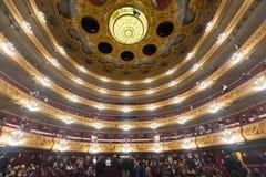 Wnętrze Gran Teatre Del Liceu Obraz Royalty Free