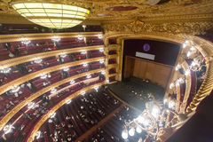 Wnętrze Gran Teatre Del Liceu Zdjęcia Stock