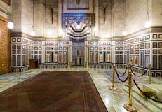 Wnętrze grobowiec Reza Shah Iran, Al Rifaii meczet Obraz Stock