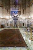 Wnętrze grobowiec Reza Shah Iran, Al Rifaii meczet Fotografia Royalty Free