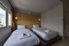 Wnętrze hotelowa sypialnia Zdjęcia Stock