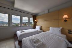 Wnętrze hotelowa sypialnia Obraz Royalty Free