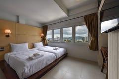 Wnętrze hotelowa sypialnia Fotografia Stock
