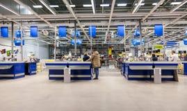Wnętrze IKEA Samara sklep Fotografia Stock