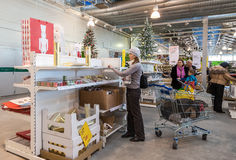 Wnętrze IKEA Samara sklep Obrazy Stock