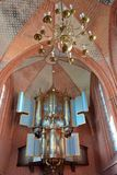 Wnętrze Jacobuskerk w Zeerijp, prowincja Groningen Zdjęcia Stock