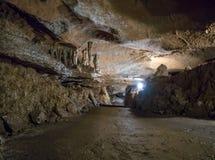 Wnętrze jama geofizyczna na Petri plateau, Crimea Obraz Stock