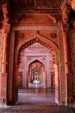Wnętrze Jama Masjid w Fatehpur Sikri, Uttar Pradesh, India zdjęcie royalty free