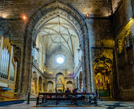 Wnętrze Jeronimos monaster Obraz Stock