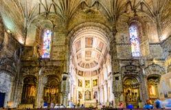 Wnętrze Jeronimos monaster Obraz Royalty Free