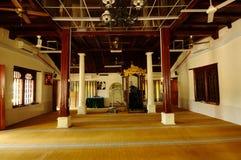 Wnętrze Kampung Duyong meczet w Malacca, Malezja Zdjęcia Stock