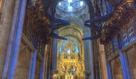 Wnętrze katedra Santiago Obrazy Royalty Free