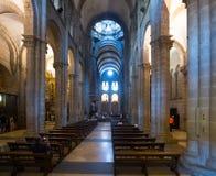 Wnętrze katedra Santiago De Compostela Obrazy Royalty Free