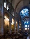 Wnętrze katedra Santiago De Compostela Obraz Royalty Free