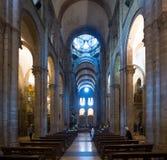 Wnętrze katedra Santiago De Compostela Zdjęcie Royalty Free