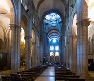 Wnętrze katedra Santiago De Compostela Zdjęcia Royalty Free