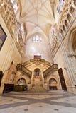 Wnętrze Katedra w Burgos, Hiszpania Obraz Royalty Free