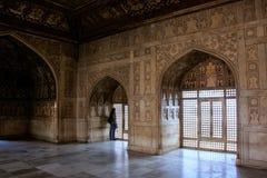 Wnętrze Khas Mahal Agra fort, Uttar Pradesh, India Obraz Stock