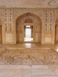 Wnętrze Khas Mahal w Agra forcie, Uttar Pradesh, India Obrazy Stock