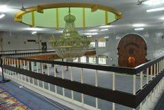 Wnętrze Kuching Grodzki meczet a K masjid Bandaraya Kuching w Sarawak, Malezja Zdjęcie Stock