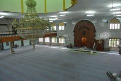 Wnętrze Kuching Grodzki meczet a K masjid Bandaraya Kuching w Sarawak, Malezja Fotografia Royalty Free