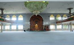 Wnętrze Kuching Grodzki meczet a K masjid Bandaraya Kuching w Sarawak, Malezja Zdjęcia Royalty Free