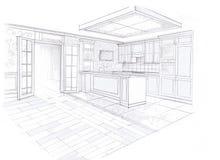 Wnętrze kuchnia Zdjęcia Royalty Free