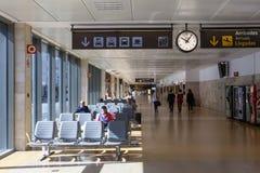 Wnętrze lotnisko Girona, Hiszpania Obraz Royalty Free
