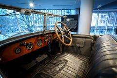 Wnętrze luksusowy samochodowy Rolls-Royce Phantom Otwieram Tourer, 1926 Fotografia Stock