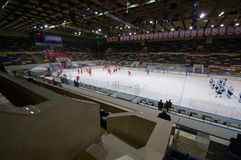 Wnętrze Luzhniki Lodowego hokeja arena Fotografia Royalty Free