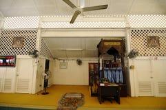 Wnętrze Masjid Tanjung Api przy Kuantan, Malezja Zdjęcie Stock
