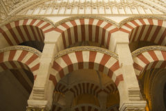 Wnętrze Meczet, Cordoba, Andalusia, Hiszpania Obraz Stock