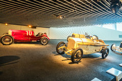 Wnętrze Mercedez Benz muzeum w Stuttgart Obrazy Royalty Free