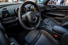 Wnętrze miasta Mini Cooper S samochodowy kabriolet Zdjęcia Royalty Free