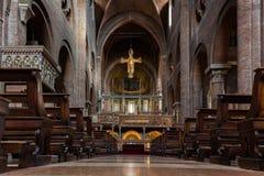 Wnętrze Modena katedra Fotografia Royalty Free