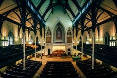 _wn?trze the Mt Vernon miejsca Zlany ko?ci?? metodyst?w w Baltimore, Maryland obraz royalty free
