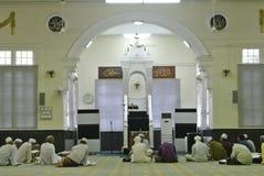 Wnętrze Muhammadi meczet a K kelantan stan Mosquei Obraz Stock