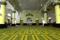 Wnętrze Muhammadi meczet a K kelantan stan Mosquei Obrazy Stock