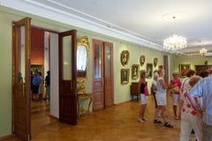 Wnętrze muzeum sztuki w Yaroslavl. Rosja Obraz Stock