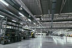 Wnętrze nowa fabryka Zdjęcia Royalty Free